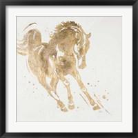 Framed Spirit Horse Gold