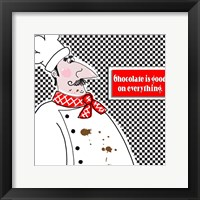 Framed Bon Appetit Chef I