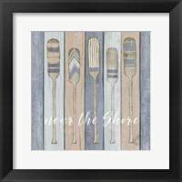 Framed Oars Near the Shore