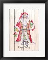 Framed Santa & Cardinal I