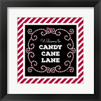 Framed Welcome to Candy Cane Lane
