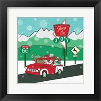 Framed Retro Santa Driving I