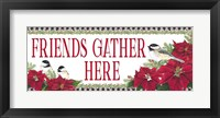 Framed Chickadee Christmas Red - Friends Gather horizontal