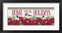 Framed Chickadee Christmas Red - Home for the Holidays horizontal
