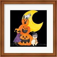 Framed Fright Night Friends IV Pumpkin Stack