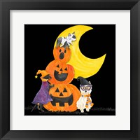 Framed Fright Night Friends IV Pumpkin Stack