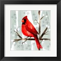 Framed Christmas Hinterland I Cardinal