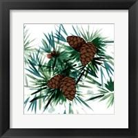 Framed Christmas Hinterland II Pine Cones