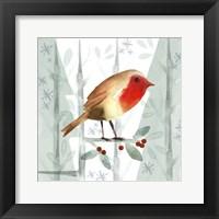 Framed Christmas Hinterland III Robin