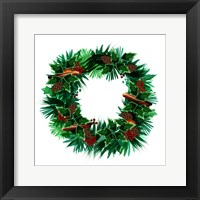 Framed Christmas Hinterland IV Wreath