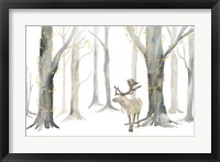 Framed Christmas Forest landscape