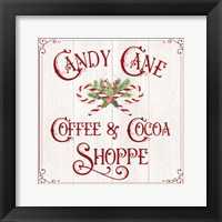 Framed Vintage Christmas Signs I-Candy Cane Coffee