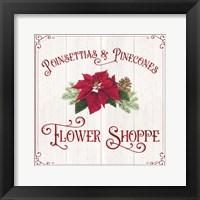 Framed Vintage Christmas Signs III-Flower Shoppe