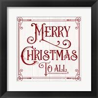 Framed Vintage Christmas Signs IV-Merry Christmas