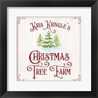 Framed Vintage Christmas Signs VI-Tree Farm