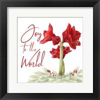 Framed Merry Amaryllis V