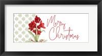 Framed Merry Amaryllis panel I