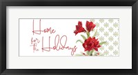 Framed Merry Amaryllis panel II