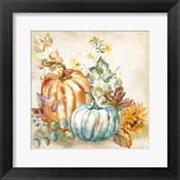 Framed Watercolor Harvest Pumpkin I