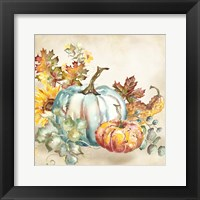 Framed Watercolor Harvest Pumpkin III