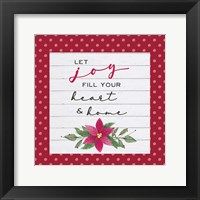 Framed Cozy Christmas Dots II Poinsettia