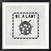 Framed Ladybug Stamp Be A Lady