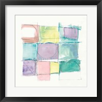 131 West 3rd Street Sq II on White Pastel Framed Print