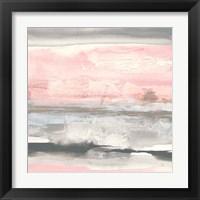 Framed Charcoal and Blush II
