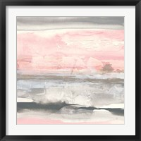 Framed Charcoal and Blush II