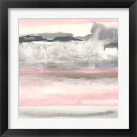Framed Charcoal and Blush I