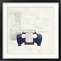 Framed Roadster II Blue Car