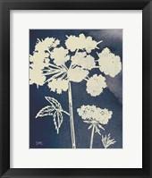 Framed Dark Blue Sky Garden III