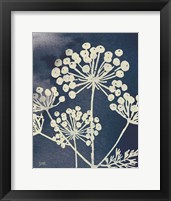 Framed Dark Blue Sky Garden I