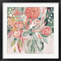 Framed Summer Pink Floral Modern