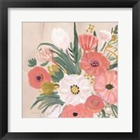 Framed Vintage Floral IV Flipped Modern