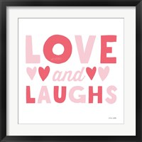 Framed Love and Laughs Pink