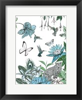 Framed Leopard and Flowers