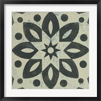 Framed Black and White Tile I