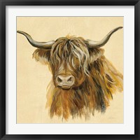 Framed Highland Animal Cow