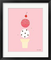 Framed Ice Cream and Cherry II