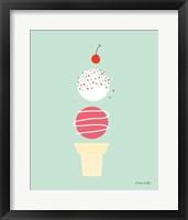 Framed Ice Cream and Cherry I