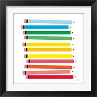 Framed Colored Pencils