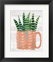 Framed Succulent Cup Neutral Crop