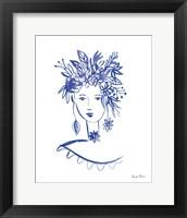 Framed Flower Girl I