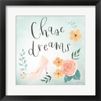 Framed Chase Dreams I Green