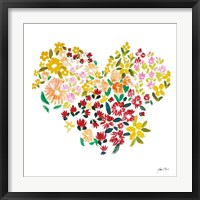 Framed Flower Heart
