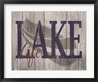 Framed Lake Life