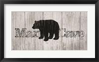Framed Mancave Bear