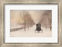 Framed Snowy Amish Lane