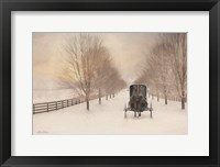 Framed Snowy Amish Lane